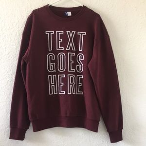 New Men H&M sweater size M